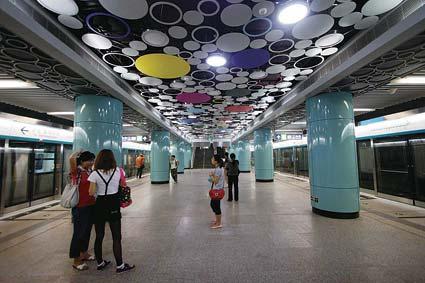 Huit stations de la ligne 4 seront décorées de peintures murales.