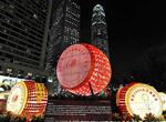 Ambiance de la fête nationale à Hongkong