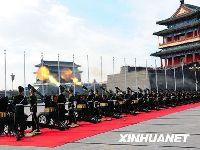 Tir d'honneur de 60 coups de canon à Beijing pour la Fête nationale