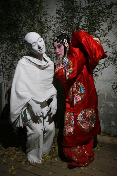 Opéra de Pékin Danse la fable du rouge et du blanc