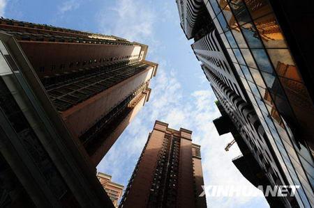 Les gratte-ciels du centre ville de Shenzhen.