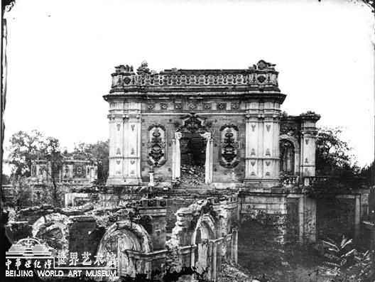 exposition d 39 anciennes photos du palais de yuanmingyuan. Black Bedroom Furniture Sets. Home Design Ideas