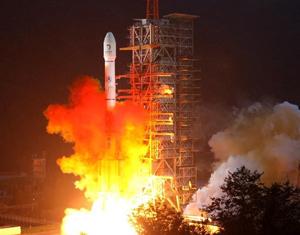 Photos prises sur le site du lancement de la deuxième sonde lunaire chinoise 'Chang´e II'