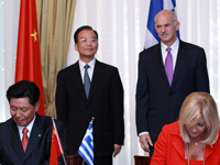 Signature de 13 accords entre la Chine et la Grèce