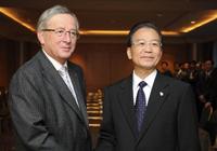 Discussions entre le PM chinois et la troïka de l'Eurogroupe sur le taux de change