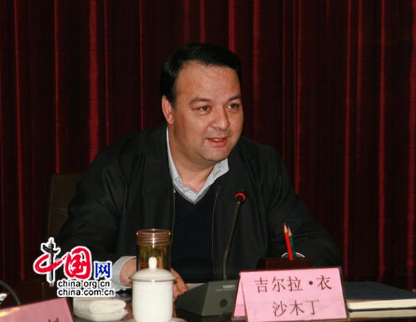 Le maire d'Urumqi, Gela Yishamudin