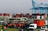 La grève des douaniers du port de Marseille en 2009