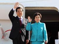 Le président chinois arrive à Lisbonne pour une visite d'Etat au Portugal