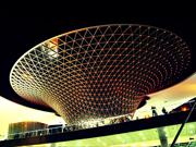 L'axe du site de l'exposition universelle de Shanghai