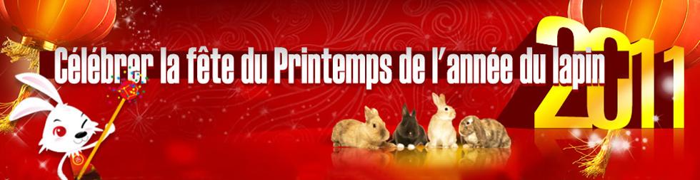Célébrer la fête du Printemps du lapin