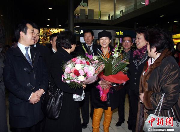Arrivée à Paris d'une délégation artistique chinoise pour célébrer la nouvelle année lunaire_2