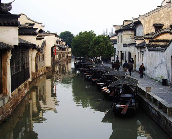 Le vieux bourg Wuzhen dans la province orientale du Zhejiang