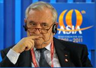Jean-Pierre Raffarin présent à la réunion-déjeuner du Forum asiatique de Bo'ao
