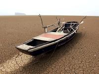 Sécheresse : niveau d'eau très bas au lac Poyang