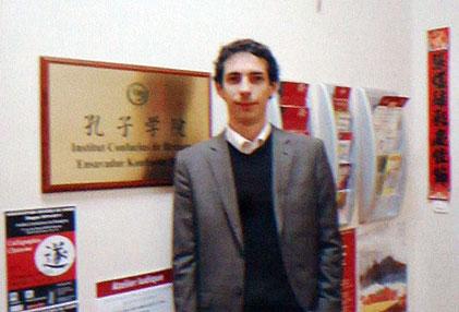 Blaise Thierrée, directeur de l'Institut Confucius de Bretagne pour la partie française