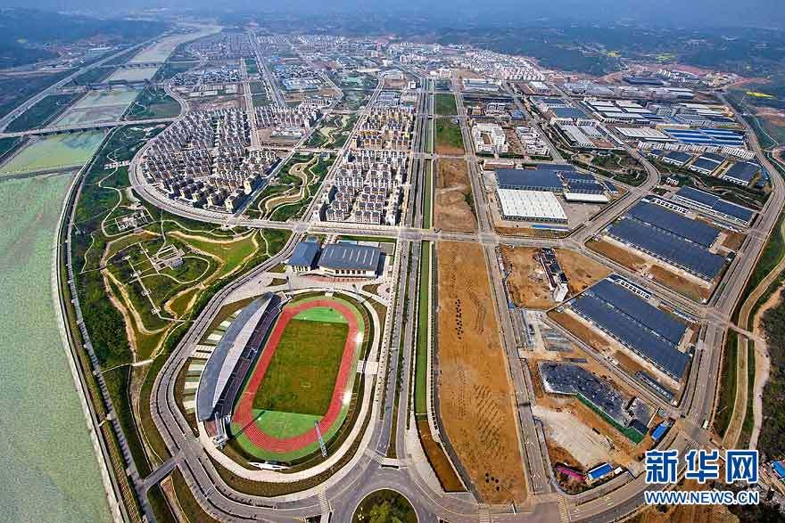 Vue panoramique des régions reconstruites dans le Sichuan_1