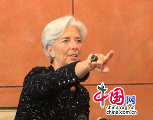 Christine Lagarde : le FMI contribuera à l'internationalisation de la monnaie chinoise