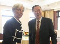 Zhou Xiaochuan rencontre Christine Lagarde à Beijing