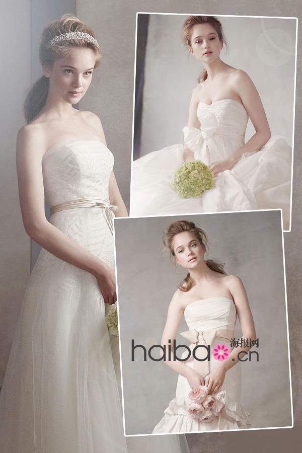 Robes de mari e white by vera wang for Gamme de prix vera wang