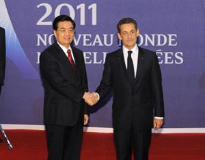 Entretien entre les présidents chinois et français à la veille du sommet du G20