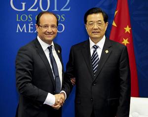 Entretien entre le président chinois et son homologue français en marge du sommet du G20