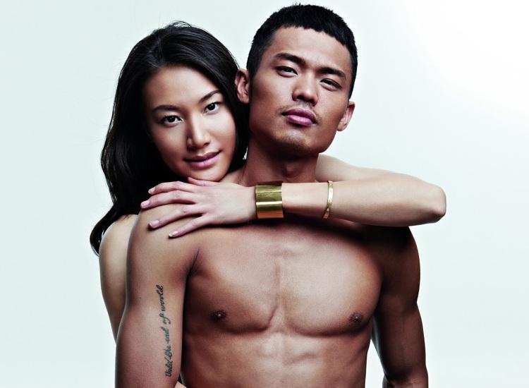 Lin Dan et sa femme Xie Xingfang posent pour Men's Health