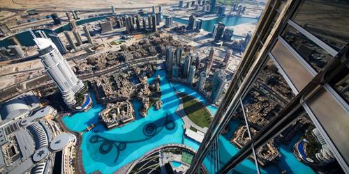 Panorama de Dubaï depuis le Burj Khalifa