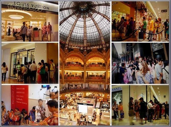 Les Chinois sont des passionnés de produits de luxe aux Galeries Lafayette