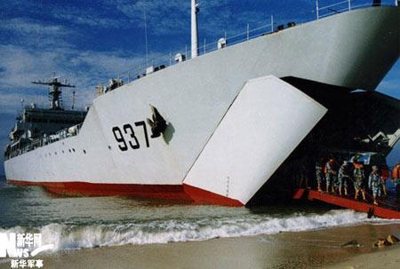 Découverte du plus grand navire amphibie de Chine
