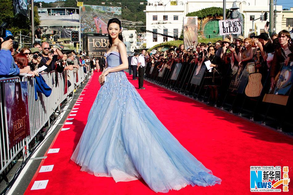 Une célébrité chinoise à l'avant-première du nouveau film de Peter Jackson