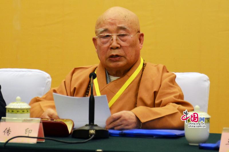 Chuan Yin, président de l'Association des bouddhistes de Chine