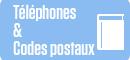 Téléphones Codes postaux