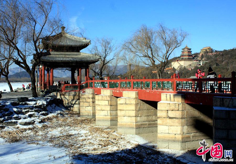 Palais d 39 et le jardin imp rial recouvert de neige for Jardin imperial chino