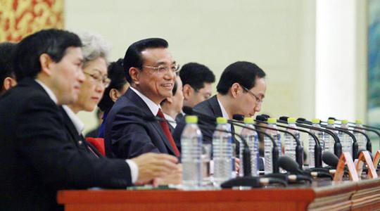 En images: conférence de presse de M. Li Keqiang, Premier ministre chinois