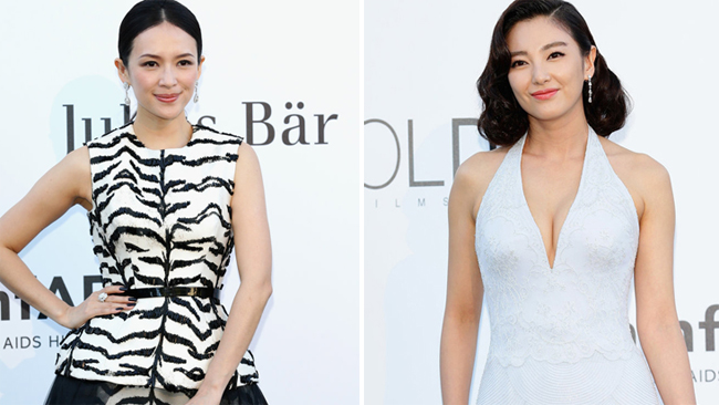 Zhang Ziyi et Zhang Yuqi au gala « Cinema Against AIDS » à Cannes