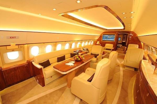 Pour Les Milliardaires Seulement L 39 Int Rieur Du Jet Priv D 39 Airbus