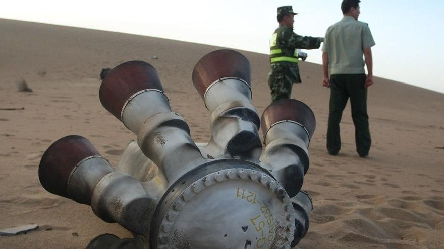 Shenzhou-10 : les débris de la tour de sauvetage retrouvés en Mongolie intérieure
