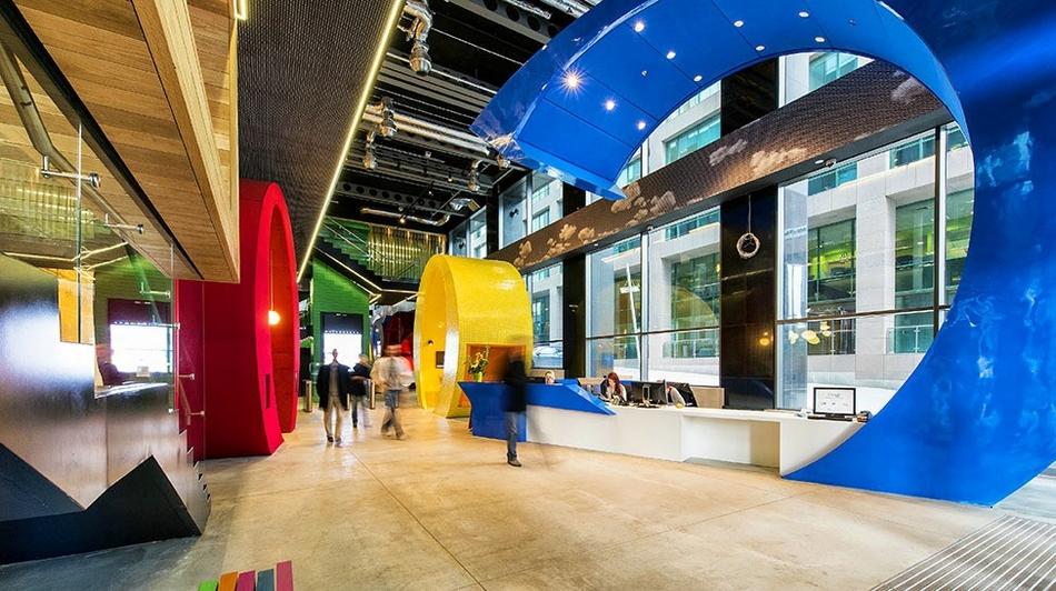 Google visite des bureaux paradisiaques du moteur de recherche à