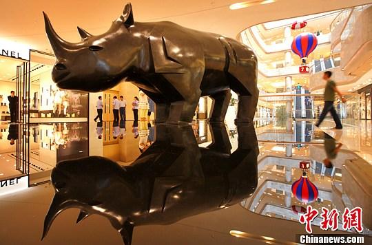 Des sculptures animalières de Daniel Daviau installées à Nanjing