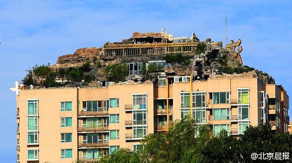 Beijing Une Villa Construite Ill Galement Sur Le Toit D
