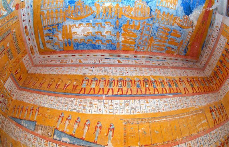 Photos : les fresques de 3000 ans du tombeau de Ramsès IV