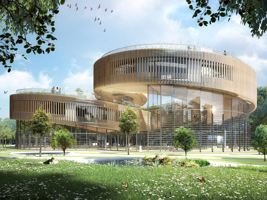 Un architecte belge con oit une ville cologique futuriste for Architecture ecologique