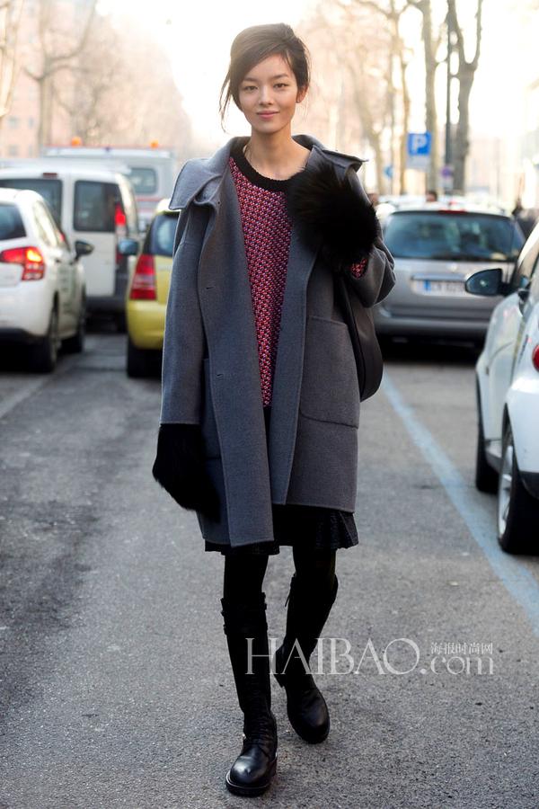 Street snap : La top-modèle chinoise Sun Feifei