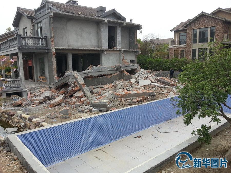 Zhejiang d molition d 39 une r plique de la maison blanche for Les cles de la maison