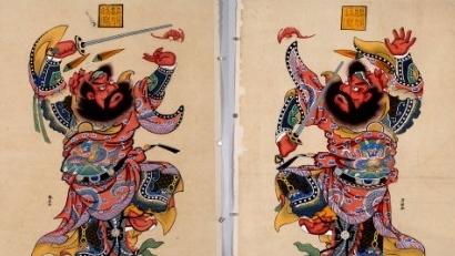 Accrocher des portraits de Zhongkui