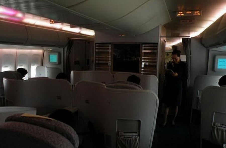 En images l 39 int rieur de l 39 avion pr sidentiel de xi jinping for L interieur d un avion