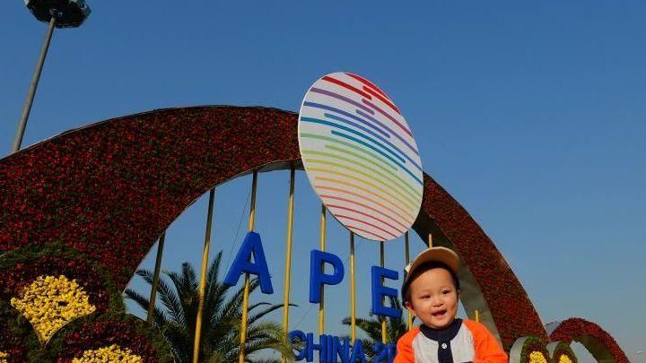 Beijing : les premières images des parterres de fleurs de l'APEC de l'avenue Chang'an