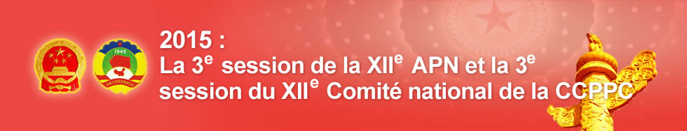 2015 : La 3e session de la XIIe APN et la 3e session du XIIe Comité national de la CCPPC