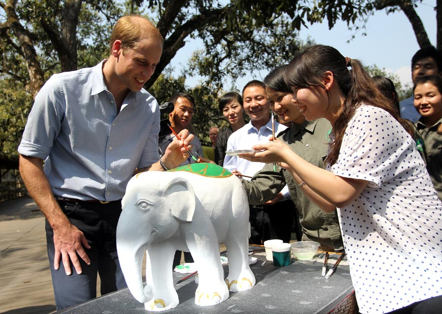 Le prince william en visite dans le xishuangbanna for Visite dans le 78