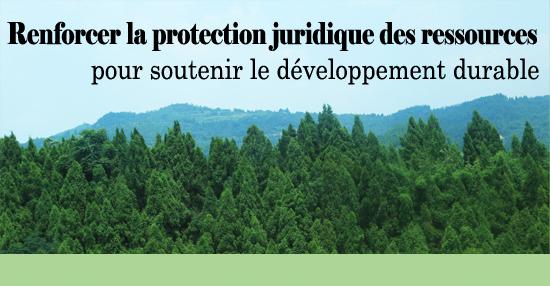 Renforcer la protection juridique des ressources pour soutenir le développement durable